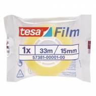TESA Film standard. Cinta  adhesiva 15 mm x 33 m. - Bolsa individual - 57381-00001-00