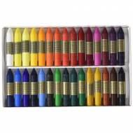 MANLEY Caja de 24 ceras de dibujo escolar. Colores surtidos - MNC00066