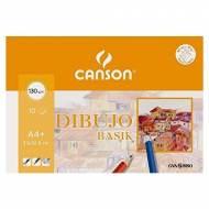 GUARRO CANSON Minipack de 10 hojas de dibujo Basik A4+ con recuadro, 130 gr. - 200406346