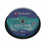 VERBATIM DVD-RW 4x Advanced SERL 4,7GB Spindle 10 uds - 43552