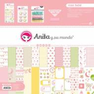 GRAFOPLAS 37080632. Kit bolsa Scrapbooking colección Rosa bebé de Anita y su mundo