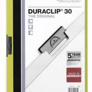 DURABLE 220005. Dossiers con clip Duraclip 30 A4. Capacidad 30 hojas Verde