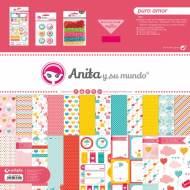 GRAFOPLAS 37080633. Kit bolsa Scrapbooking colección Puro Amor de Anita y su mundo