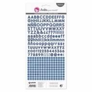 GRAFOPLAS 37017134. Pack 5 abecedarios pegatina de papel color azul marino de Anita y su mundo