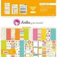 GRAFOPLAS 37080634. Kit bolsa Scrapbooking colección Me organizo de Anita y su mundo