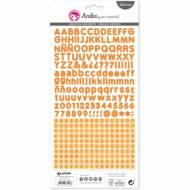 GRAFOPLAS 37017152. Pack 5 abecedarios pegatina de papel color naranja de Anita y su mundo