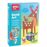 APLI 13749. Kit manualidades Colorea con arena Sand Art