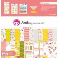 GRAFOPLAS 37080635. Kit bolsa Scrapbooking colección De Chicas de Anita y su mundo