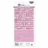 GRAFOPLAS 37017154. Pack 5 abecedarios pegatina de papel color rosa fucsia de Anita y su mundo