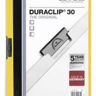 DURABLE 220004. Dossiers con clip Duraclip 30 A4. Capacidad 30 hojas Amarillo
