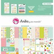 GRAFOPLAS 37080638. Kit bolsa Scrapbooking colección Mis recetas de Anita y su mundo