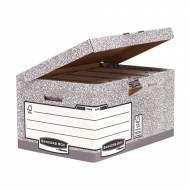 Fellowes 1181501. Maxi contenedor de archivos con tapa fija gris
