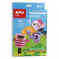 APLI 13813. Kit manualidades Costura Funny Pencils