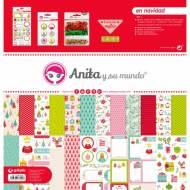 GRAFOPLAS 37080639. Kit bolsa Scrapbooking colección En Navidad de Anita y su mundo
