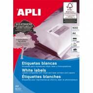APLI 1781. Caja 500 hojas A4 de etiquetas ILC blancas (64,6 X 33,8mm.)