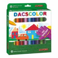 ALPINO DC050295. Estuche de 24 ceras Dacscolor. Colores surtidos