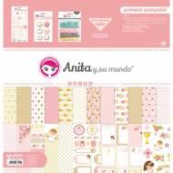 GRAFOPLAS 37080641. Kit bolsa Scrapbooking colección Primera comunión niña de Anita y su mundo