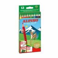 ALPINO AL010654. Estuche de 12 lápices de colores surtidos