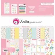 GRAFOPLAS 37080644. Kit bolsa Scrapbooking colección Nuestra peque de Anita y su mundo