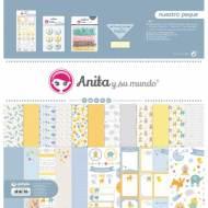 GRAFOPLAS 37080645. Kit bolsa Scrapbooking colección Nuestro peque de Anita y su mundo