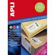 APLI 11783. 100 hojas A4 etiquetas extrafuertes (105,0 X 37,0 mm.)