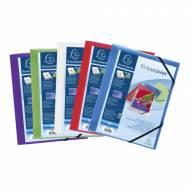 EXACOMPTA 55189E Pack 5 carpetas con gomas Krea Cover A4. Colores surtidos translucidos