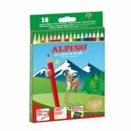 ALPINO AL010656. Estuche de 18 lápices de colores surtidos