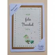 SHEEDO US14488. Tarjeta postal plantable - Feliz Navidad
