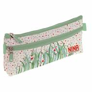 GRAFOPLAS 37540732. Estuche escolar portatodo simple Nina and other little things Nature