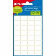 APLI 2671. Etiquetas adhesivas blancas 6 hojas (12 x 30 mm.)