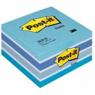 Post-it 2028-B. Cubo notas 450 hojas, 76 x 76 mm. Azules pastel