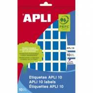 APLI 02751. Etiquetas adhesivas azules escritura manual (12 X 18 mm.)