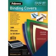 Fellowes 5381502. Pack de 100 portadas Linen azul A4 250 gr.