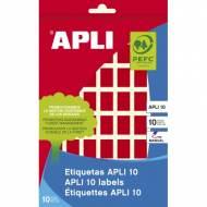 APLI 02752. Etiquetas adhesivas rojas escritura manual (12 X 18 mm.)