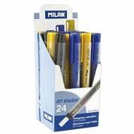 MILAN Pack 24 portagomas Jet Eraser con goma de nata. Colores surtidos - 3026324
