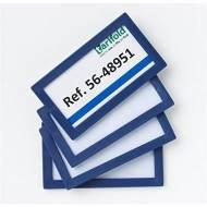TARIFOLD Pack de 4 marcos de identificación (80 x 45 mm). Color azul - 194851