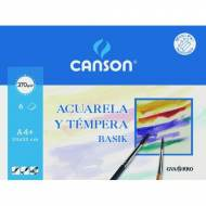 GUARRO CANSON Papel dibujo acuarela y témpera, 370 g. Mini pack 6 hojas A4+ - 200406347