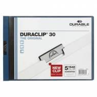 DURABLE Dossiers con clip Duraclip. Capacidad 30 hojas A4 Apaisado Azul oscuro - 869081