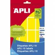 APLI 02754. Etiquetas adhesivas amarillas escritura manual (25 x 40 mm.)
