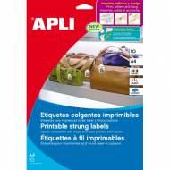 APLI 11946. 10 hojas A4 etiquetas colgantes (28,0 X 43,0 mm.)