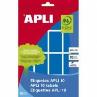 APLI 02755. Etiquetas adhesivas azules escritura manual (25 x 40 mm.)