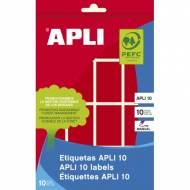 APLI 02756. Etiquetas adhesivas rojas escritura manual (25 x 40 mm.)