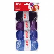 APLI 14092. Pack 4 ovillos de lana tonos azules (50 gr.)