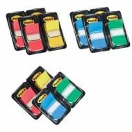 POST-IT Indices Adhesivos Pack 10ud + 2 dispensadores gratis 25,4 x 43,1 mm - FT600003527