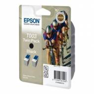 Epson T003 Pack 2 cartuchos de tinta original negro C13T00301210