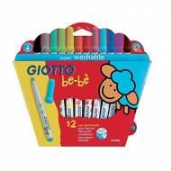 GIOTTO Be-Bè. Estuche de 12 rotuladores de colores surtidos - 466700