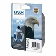Epson T007 Pack 2 cartuchos de tinta original negro C13T00740220