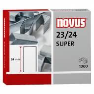 NOVUS 042-0644. Grapas galvanizadas 23/24. Caja de 1000.