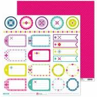 GRAFOPLAS 37011319. Papeles scrapbooking (Etiquetas) colección Mosaico
