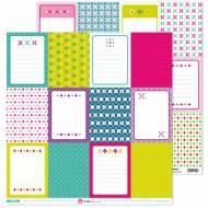 GRAFOPLAS 37011519. Papeles scrapbooking (Tarjetas) colección Mosaico